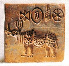 Pakistan Mohenjo-daro Steatite seal depicting an Indian rhinoceros Pakistan Karachi Museo Nazionale del Pakistan (Archaeological Museum) Indus Valley art Bronze Age Civilization, Indus Valley Civilization, Sumerian, Minoan, Ancient Mesopotamia, Ancient Civilizations, Harappan, Mohenjo Daro, History Of India