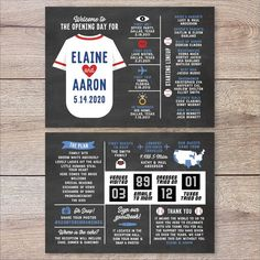 Baseball Wedding Program, Infographic Wedding Program, Baseball Lineup Wedding Program, Sports Wedding Program, Non Traditional Wedding Unique Wedding Programs, Nontraditional Wedding, Baseball Lineup, Instagram Plan, Sports Wedding, Thank You Messages, First Dates, Maid Of Honor, Infographic