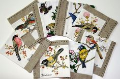 coasters made from a vintage tea towel | Flickr - Photo Sharing!