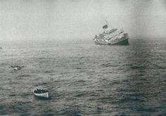 Andrea Doria Sinking in the Atlantic by Loomis Dean