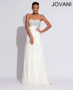 Jovani 88081 - 1920's Art Deco Great Gatsby Wedding Dress