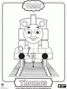 "Thomas and Friends coloring pages. Can ""paint"" using a mouse, or print to color."