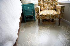 paint floor, floor painting, stencil patterns, floor design, carpet, painting crafts, plywood floors, bedroom, painted floors