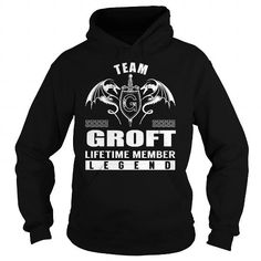 Cool Team GROFT Lifetime Member Legend - Last Name, Surname T-Shirt T-Shirts