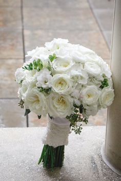 Beautiful Roses Ranunculus Greenery White Fluffy Full Bridal Bouquets By Nola Flora New Orleans Wedding Florist