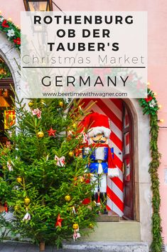 Rothenburg ob der Tauber's Christmas Market in a medieval, walled city in Germany! Known as the Christmas city of Germany, the architecture and festive spirit add to the ambiance!