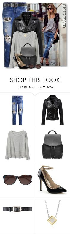 """*Cool distressed jeans"" by breathing-style ❤ liked on Polyvore featuring Gap, rag & bone, Belstaff and Blue Nile"