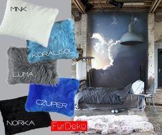 Do niebiańskiej sypialni najlepiej pasuje poduszka...  ⭐ Kolekcja poduszek dostępna online www.FurDeko.pl
