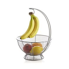This ingenious basket not only hangs banana to keep them fresh and prevent bruising, it separates the bananas from the bowl below to keep stored fruit from ripening too quickly.