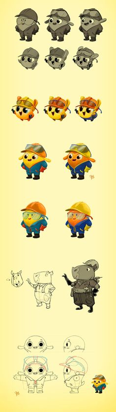 Character Design MIX - Vol. 2 by Franco Spagnolo, via Behance