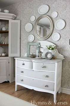 Bold or Subtle: What type of wall stencil do you prefer?  project via Hymns and Verses buy the stencil:  http://www.cuttingedgestencils.com/damask-stencil.html
