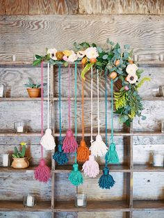 tassel backdrop wedding ideas - photo by Charla Storey Photography http://ruffledblog.com/summer-loving-wedding-inspiration-with-a-fiesta-brunch