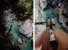 Wandern in Slowenien: 85 Kilometer durchs Soca-Tal - wanderfolk.de Rafting, Touring, Hiking Boots, Nature, Pictures, Travelling, Europe, Campsite, Croatia