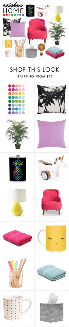 """R A I N B O W   H O M E"" by mariana-madureira on Polyvore featuring interior, interiors, interior design, home, home decor, interior decorating, Barneys New York, Serena & Lily, Kate Spade and M&Co"