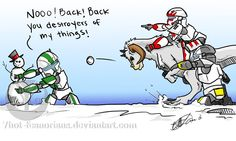 Vs The Snowman by 7hot-feanorians.deviantart.com on @DeviantArt
