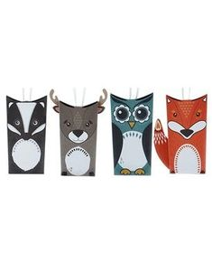 Buy John Lewis Woodland Animals Tree Pouch Gift Boxes, Pack of 4 from our Gift Wrap, Bags & Ribbons range at John Lewis & Partners. Toilet Roll Craft, Toilet Paper Roll Art, Rolled Paper Art, Toilet Paper Roll Crafts, Paper Towel Roll Crafts, Christmas Gift Box, Christmas Tree, Plate Crafts, Animal Decor