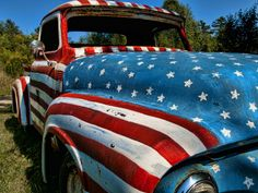 Love old trucks, love our country, love this combo!