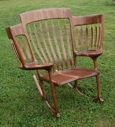"""Hal decided to create a three-seated rocking chair, which he dubbed """"The Story Time Rocking Chair."""""""