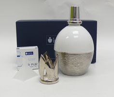 Lampe Berger Fragrance Lamp Silver Effects White 4318 LPE Effet D'Argent Blanch #LampeBerger