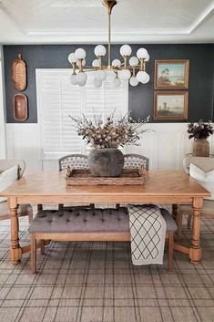 Design Dining room décor for every home be it a farmhouse or traditional one we have it covered! Table colors chair and lighting all included. Dining Room Design, Dining Area, Kitchen Dining, Dining Rooms, Küchen Design, House Design, Interior Design, Dining Room Inspiration, Deco Table