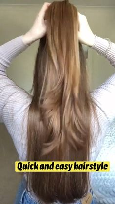 Hairdo For Long Hair, Easy Hairstyles For Long Hair, Pretty Hairstyles, Hair Tips Video, Hair Videos, Medium Hair Styles, Long Hair Styles, Hair Cleanser, Hair Upstyles