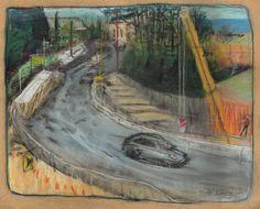 """Highway Upgrade Wabi Sabi, Mount Victoria"" Pastel Drawing A3ish size. Finalist 2016 Rick Amor Drawing Prize Pastel Drawing, Blue Mountain, Wabi Sabi, Art Education, Original Artwork, Victoria, Fine Art, Drawings, Artist"