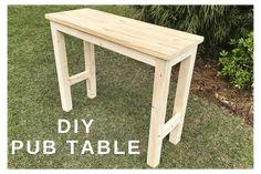 Bar Height Table Diy, Bar Table Diy, Patio Bar Set, Pub Table Sets, Diy Bar, Patio Table, Bar Tables, Rustic Table, Picnic Table