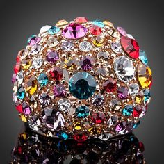 Cheap austrian crystal rings, Buy Quality crystal ring directly from China gold color Suppliers: AZORA Gorgeous Rose Gold Color Multicolour Stellux Austrian Crystal Ring Beautiful Gifts, Beautiful Outfits, Fashion Rings, Fashion Jewelry, Women Jewelry, Crystal Wedding, Crystal Ring, Crystal Fashion, Color Ring