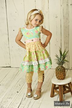 c11b8304772 Mustard Pie Andalusia Charli Dress PREORDER Girls Summer Outfits