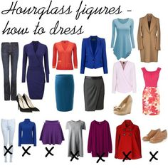 how to dress for hourglass shape - Google Search                                                                                                                                                                                 More