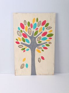 Large Hand Painted Tree on Wood Whimsical Girls by SweetBananasArt, $85.00