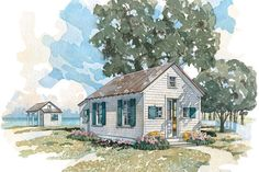 Cabins & Cottages Under 1,000 Square Feet: Boathouse & Bunkhouse House Plan #049