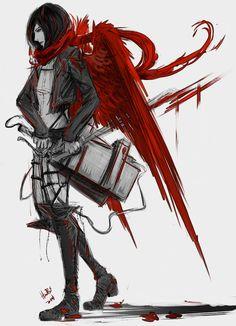 Fear the Reaper by lllannah on DeviantArt. Mikasa. Attack on titan. 進撃の巨人. Shingeki no Kyojin. Атака титанов. #SNK. #AOT
