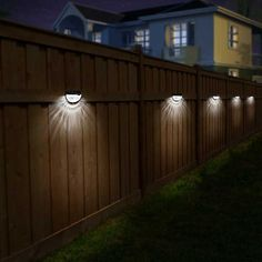 Fence Post Lights Wall Mount Decorative Deck Lighting, Black, 4 Packs - New ideas Best Outdoor Solar Lights, Outdoor Deck Lighting, Solar Deck Lights, Fence Lighting, Landscape Lighting, Outdoor Decor, Deck Post Lights, Solar Post Lights, Outdoor Walkway