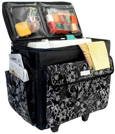 Everything Mary Originals Rolling Sewing Tote Room Accessories, Sewing Accessories, Brother Sewing Machines, Craft Bags, Packing Tips For Travel, Sewing Notions, Storage Solutions, Vintage Sewing, Everything