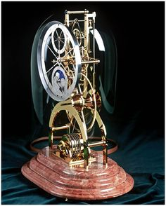 Month Going Skeleton Clock by David Walter