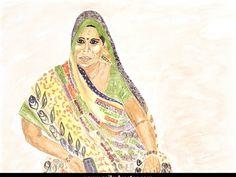 "SERIES: Women TITLE: ""Aasia"" MEDIUM: Watercolour"