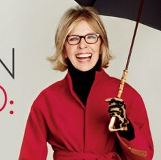 One of a series of ads Diane Keaton did for Chicos women's clothing stores...