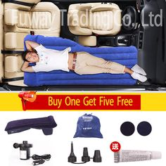 DHL 2016 Car Back front Seat Cover Car Air Mattress Travel Bed Inflatable Mattress Air Bed High Quality Inflatable Car Bed
