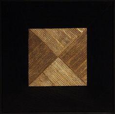 Kvadrat d'or 2013 (carton feuille d'or peinture minérale) 62.5×62.5 Feuille D'or, 2013, Projects, Foil Stamping, Paint, Log Projects, Blue Prints