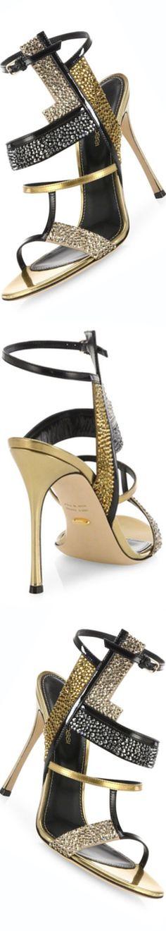 Sergio Rossi Tamara Swarovski Crystal & Leather Sandals