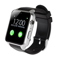 SODIAL(R) Waterproof GT88 NFC Bluetooth Smart Watch Phone Mate For iphone Android Silver   * SODIAL is a registered trademark. ONLY Authorized seller of SODIAL can sell under SODIAL listings.Our products will enhance your experience to unparall