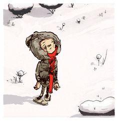 Scarf Kid, 2012, ink/watercolor/digital