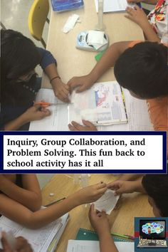 back to school science activity that gets your students learning about the scientific method on the first day