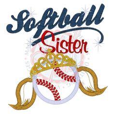 Custom Sibling Girls Softball Baseball Sister  T-Shirt - Personalized Shirt - Toddler and Youth - Girl Sport Sis Shirt - Baseball Top. $24.00, via Etsy.