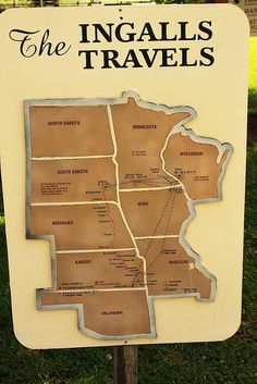 Map of the Ingalls family travels.