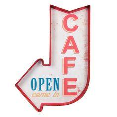 Enseigne flèche Café Maison du Monde 29,99€