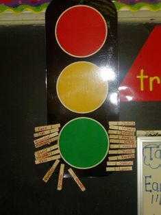 Been using this method for twenty years! Much success with classroom management and having the children accept responsibility for behavior. I also have a sheet which accompanies this, and the students record their own behavior as well. A small prize is aw Stoplight Behavior, Preschool Behavior, Kids Behavior, Preschool Classroom, Special Education Classroom, Classroom Setup, Classroom Organization, Classroom Rules, Organizing
