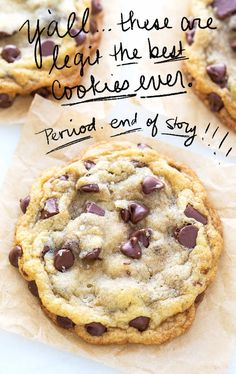 Best chocolate chip cookies recipe . Christmas cookies . Holiday cookies . Chewy cookies...