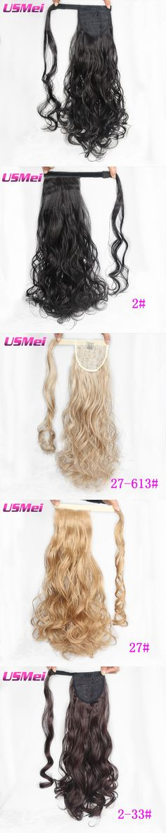 USMEI 26 inches Bouncy Curly Ponytail Synthetic Artificial Tress Claw In Pony Tail Hair Extension Natural False Women Hairpiece